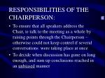 responsibilities of the chairperson2