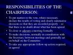 responsibilities of the chairperson3