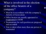 what is involved in the election of the office bearers of a company