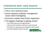 institutional work early lessons7