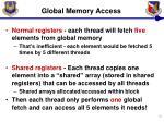 global memory access