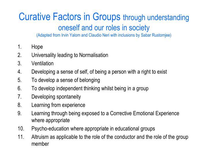 yaloms 11 curative factors
