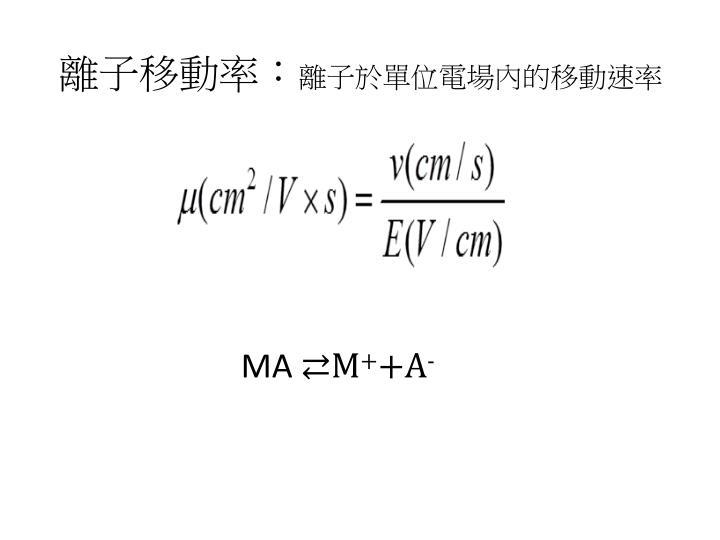 離子移動率