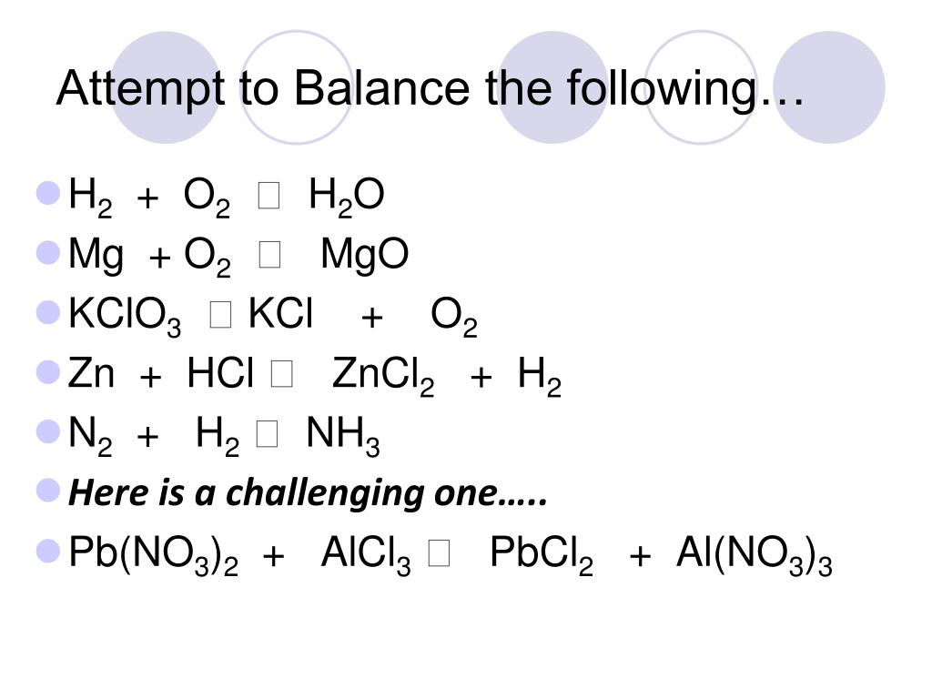 PPT - How to Balance Chemical Equations PowerPoint ...