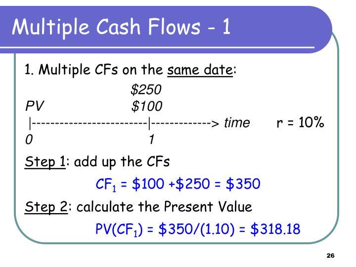 Multiple Cash Flows - 1