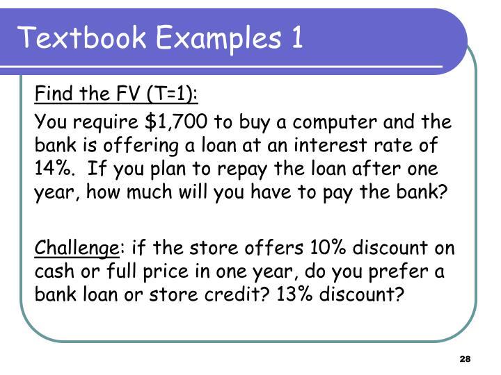 Textbook Examples 1