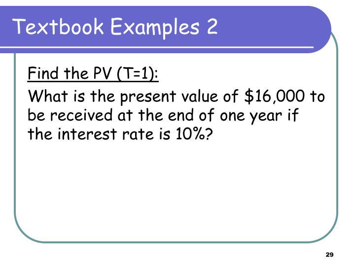 Textbook Examples 2