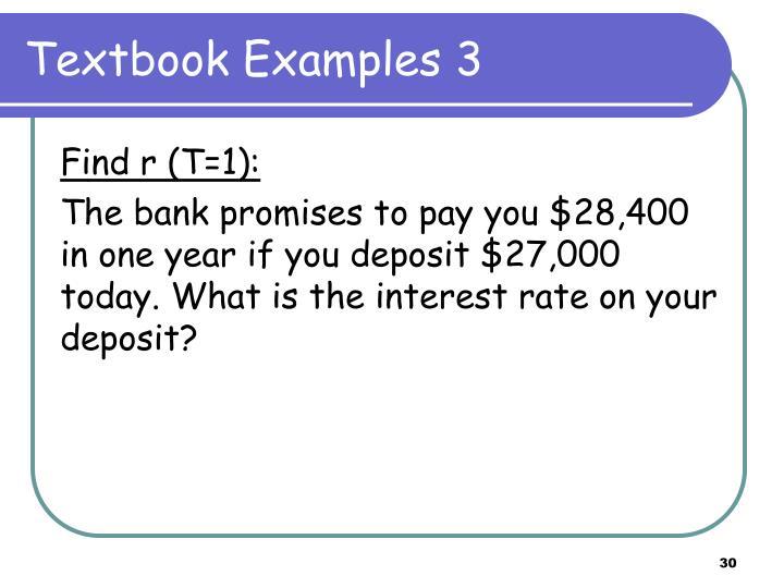 Textbook Examples 3