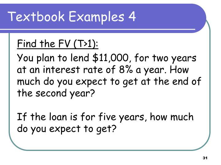 Textbook Examples 4