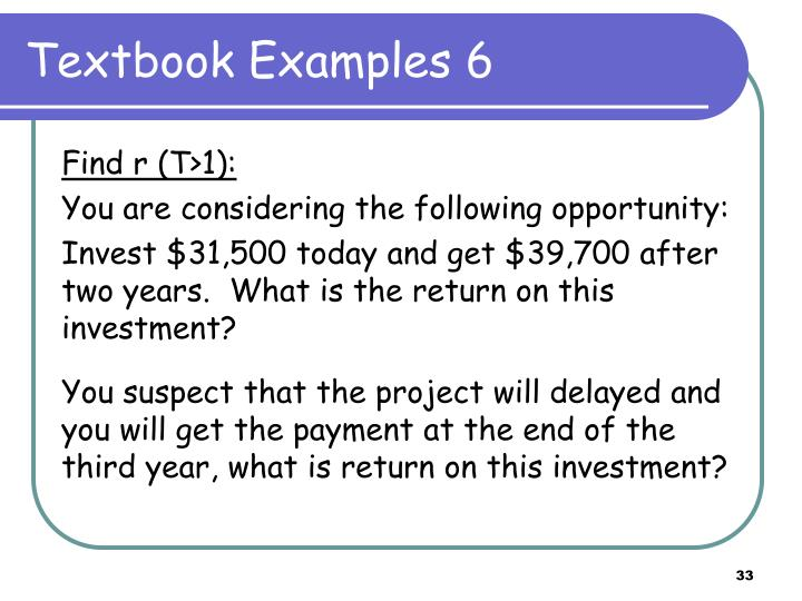 Textbook Examples 6