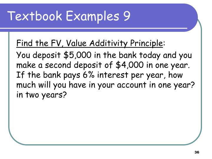 Textbook Examples 9
