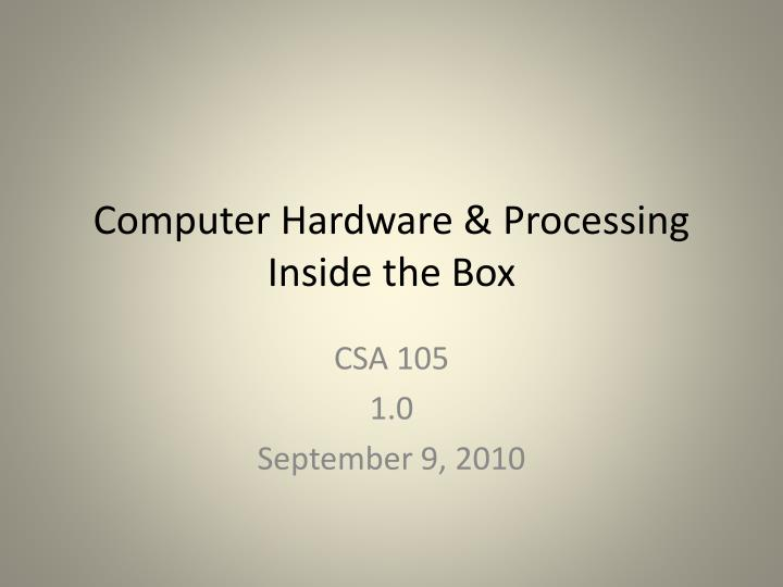 computer hardware processing inside the box n.