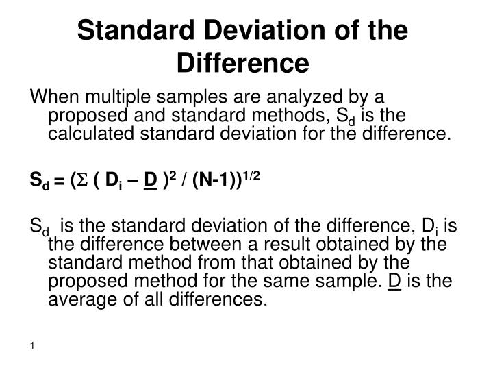 Ppt standard deviation of the difference powerpoint presentation standard deviation of the difference ccuart Choice Image