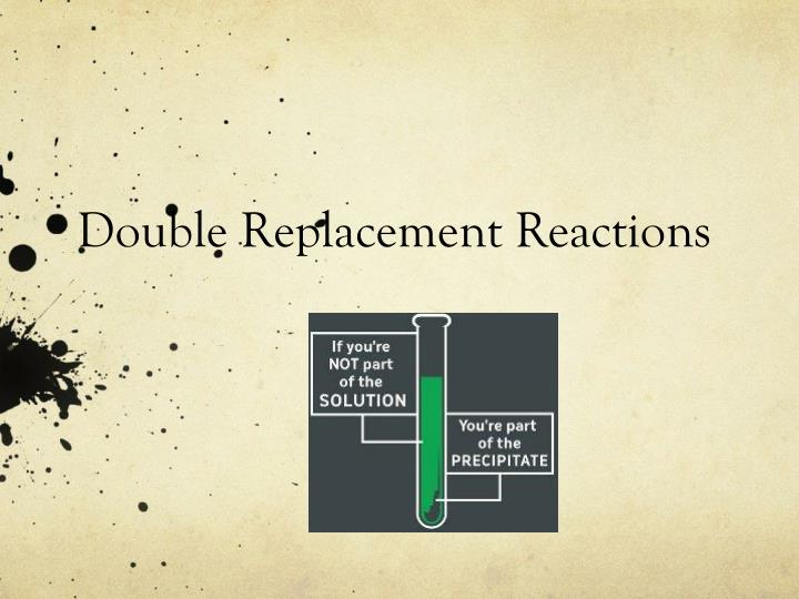 double replacement reactions n.