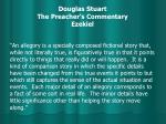 douglas stuart the preacher s commentary ezekiel