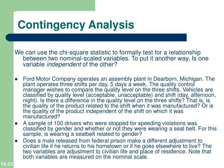 Contingency Analysis