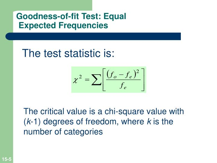 Goodness-of-fit Test: Equal