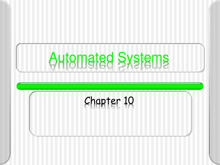 automated systems n.