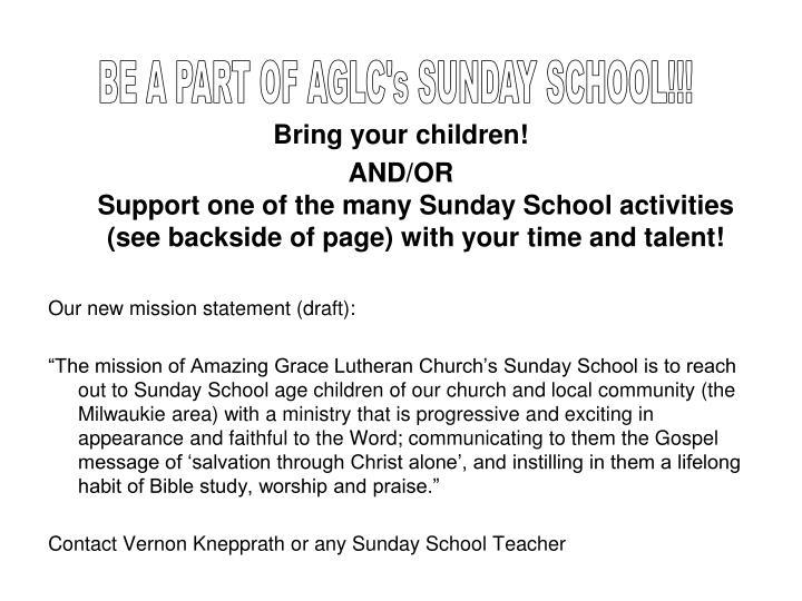 Bring your children!