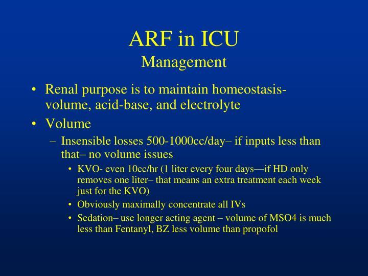ARF in ICU