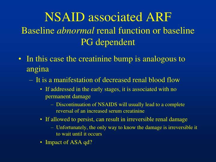 NSAID associated ARF