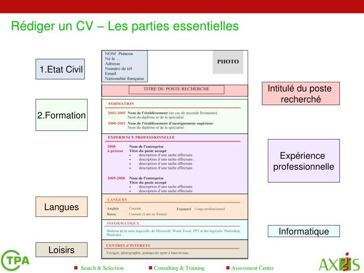 ppt - conseils pour rediger un cv powerpoint presentation