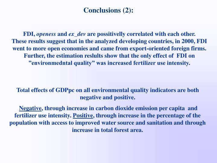 Conclusions (2):
