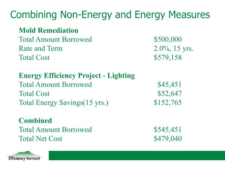 Combining Non-Energy and Energy Measures