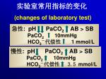 changes of laboratory test