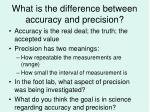 what is the difference between accuracy and precision