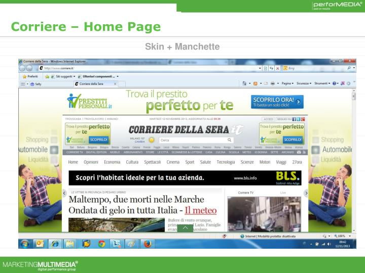 Corriere – Home