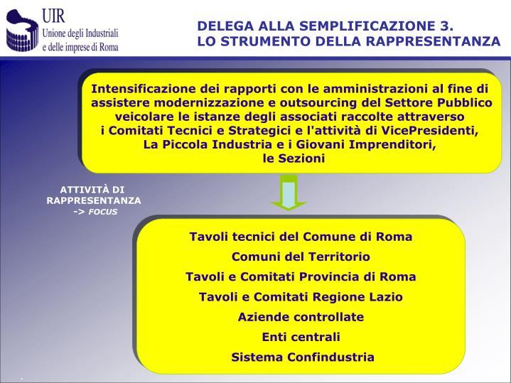 DELEGA ALLA SEMPLIFICAZIONE 3.