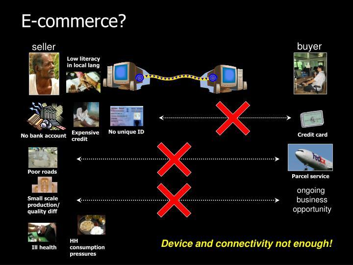 E-commerce?