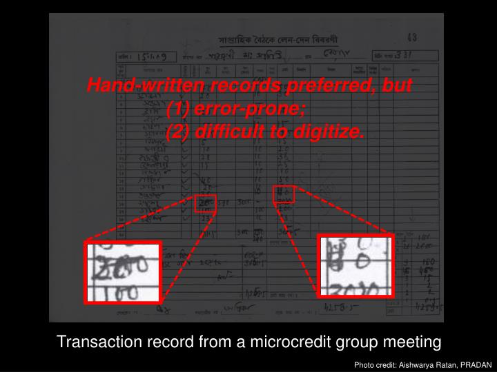 Hand-written records preferred, but