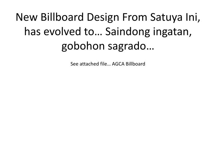New Billboard Design From
