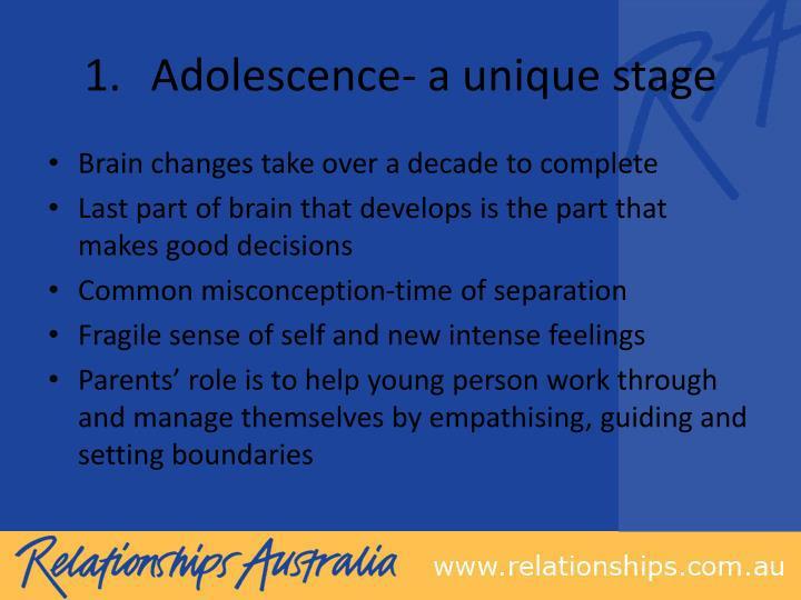 Adolescence- a unique stage