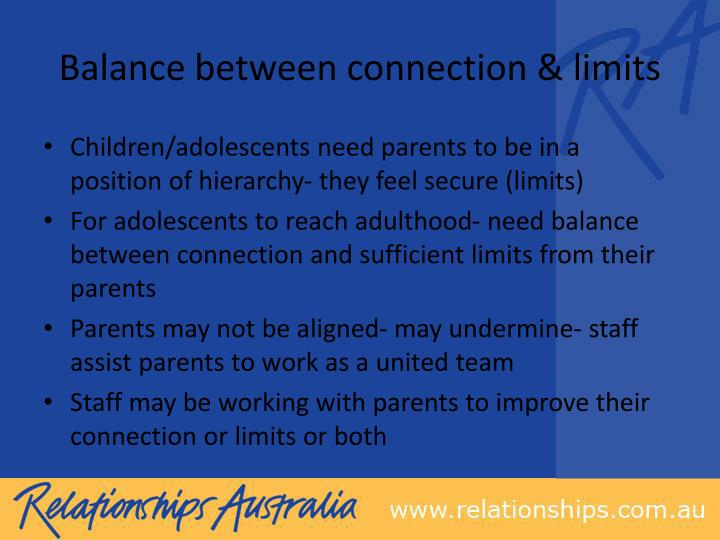 Balance between connection & limits