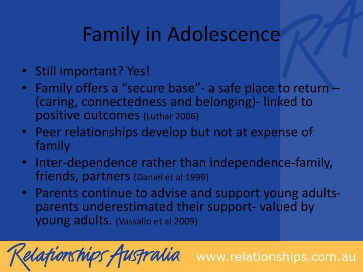 Family in adolescence