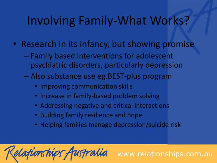 Involving Family-What Works?