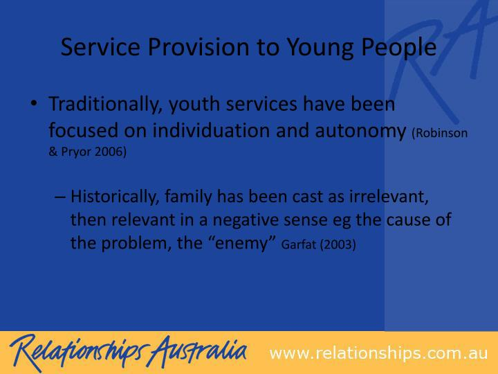 Service Provision to Young People