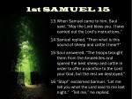 1st samuel 15