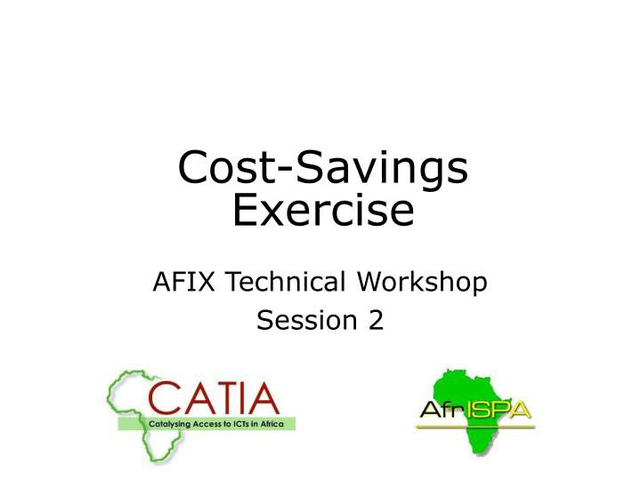 cost savings exercise