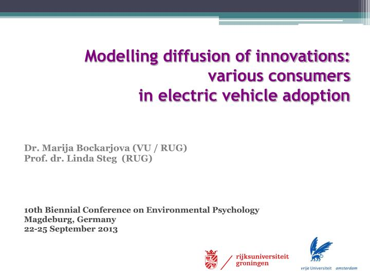 Modelling diffusion of innovations