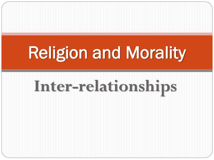religion and morality n.