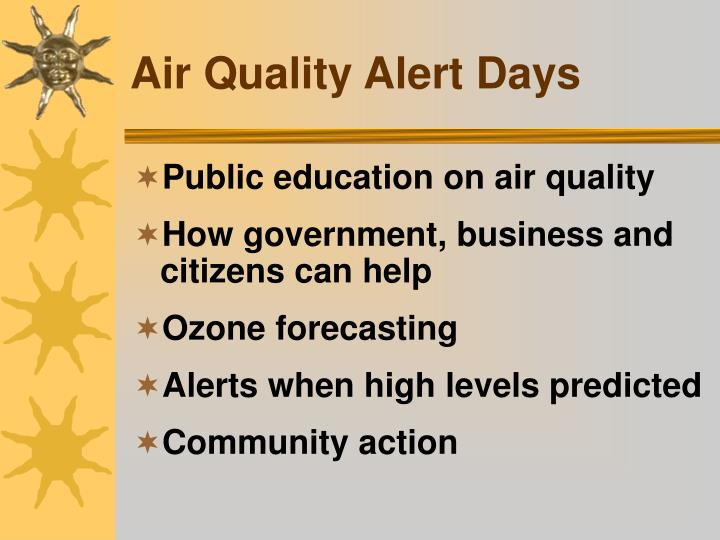 Air Quality Alert Days