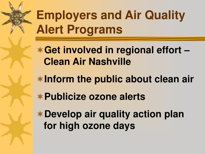 Employers and Air Quality Alert Programs