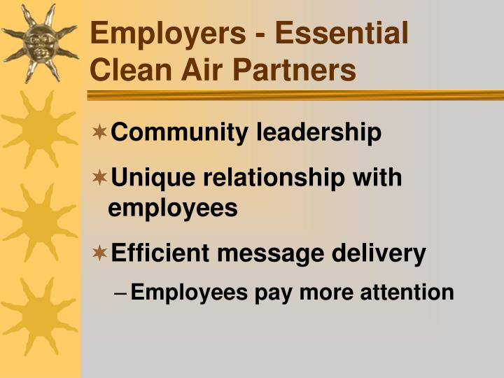 Employers - Essential Clean Air Partners