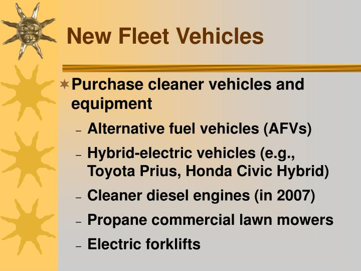 New Fleet Vehicles