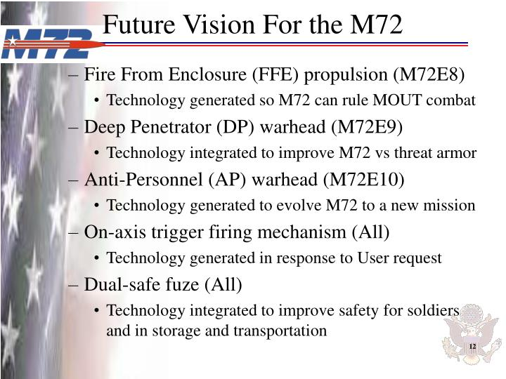 Future Vision For the M72