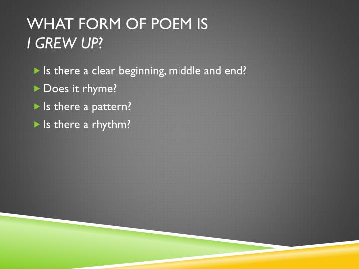 What form of poem is